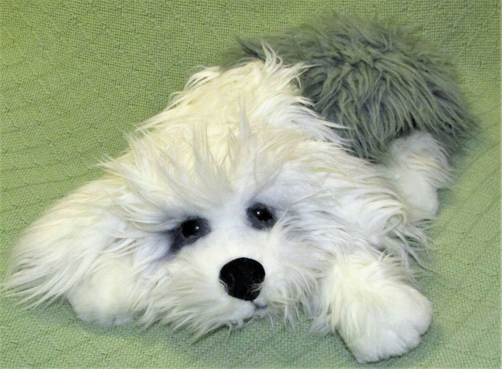 "Primary image for 16"" OLD ENGLISH SHEEPDOG LOU RANKIN DAKIN FRIEND STUFFED ANIMAL PUPPY GREY WHITE"