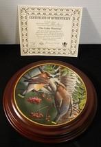 1987 Cedar Waxwing 10th Edition Knowles Birds Of Your Garden W Custom Fr... - $23.33