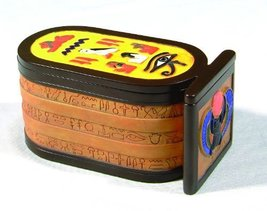 5.88 Inch Scarab Cartouche Egyptian Jewelry/Trinket Box Figurine - $23.76