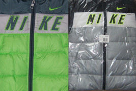 New Boys Nike Colorblock Puffer Jacket Size 4 Left MSRP $85 Green or Grey - $55.00