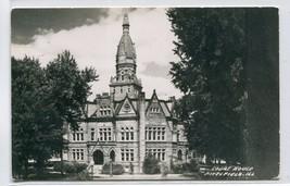 Court House Pittsfield Illinois Real Photo RPPC 1950s postcard - $7.43