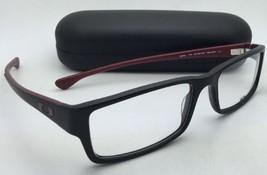 Nuovo Oakley Occhiali da Sole Servo Ox 1066-0453 53-18 Nero & Brick-Red Cornice