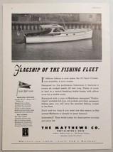 1949 Print Ad Matthews 40 Sport Cruiser Boats Port Clinton,Ohio . - $15.13