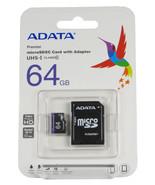 64GB ADATA Micro SD Memory Card UHS-I Class 10 MicroSDXC Adapter Cell Phone - $16.95