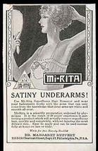 Flapper Lingerie Vanity Hand Mirror Mi-Rita Hair Remover 1923 AD - $10.99