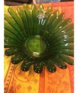 Cheerful BLENKO Green Sunflower Petal Bowl  Century Modern Perfect CondI... - $48.51