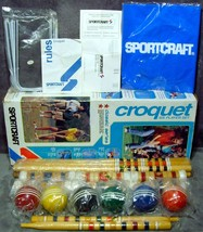 1979 New in Box Sportcraft Six Player Croquet Set Model 02032 Classic Se... - $99.99