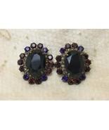 Sorrelli Simply Divine Collection Amethyst Purple Crystal Rhinestone Ear... - $79.18