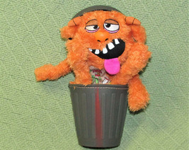 GRIMY ORANGE STINKY LITTLE TRASH MONSTERS STUFFED ANIMAL IN GARBAGE CAN ... - $14.85