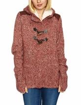 Bench Wolfster Rot Strick Reißverschluss Pullover mit Kapuze Jacke