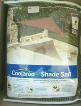 Coolaroo Ready-To-Hang Triangle Shade Sail 13 ft x 13 ft x 13 ft - Mocha NIP image 2
