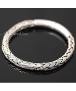 Mens Sterling Silver Bracelet Hand Crafted Woven Rope Style Chain Hip Ho... - $190.08