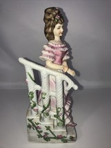 Lefton China Girl in Pink Dress on Stairs #GG6142 RARE - $19.31