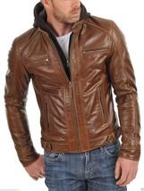 Men Leather Jacket 100% Genuine Lambskin Slim Fit Biker Jacket NF# 474 - $109.99
