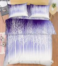 3D Bare Trees 02 Bed Pillowcases Quilt Duvet Cover Set Single Queen King Size AU - $64.32+
