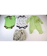 Kidgets Old Navy Faded Glory Boys 0-3M One Piece PJs Pajamas Shorts 4 Pc... - $9.89