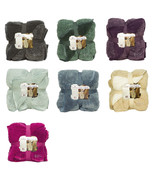 NEW WARM ULTRA SOFT CUDDLY CABIN SHERPA THROW Blanket Oversized Two Tone... - $54.99