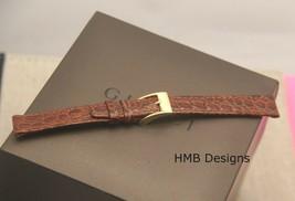 New Gucci 12 MM Brown Alligator Grain Genuine Leather Watch Band  (12.103) - $27.95