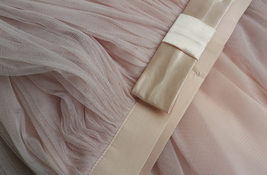 PINK Long Tulle Skirt Pink Bridesmaid Tulle Skirt Outfit Bow-knot image 8