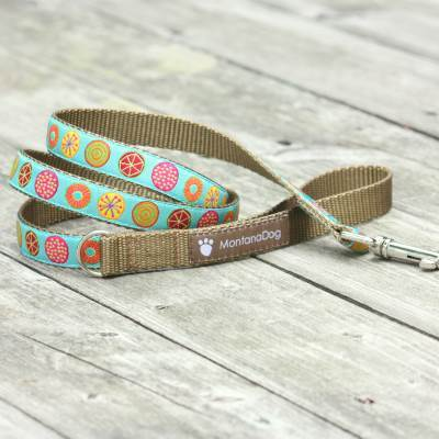 The Five Spot Jacquard Dog Leash (120cm, 4ft.) / Made in Japan