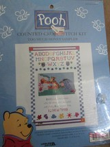 Winnie the Pooh Counted Cross Stitch Kit Too Much Honey Sampler NEW - $16.95
