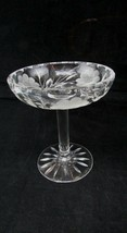 Abp Cut Glass Crystal Small Floral Compote Nut/Candy Dish - $34.65