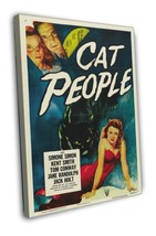 Cat People 1952 Vintage Movie FRAMED CANVAS Print 14 - $19.95+