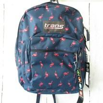 """New Trans By Jansport Backpack Blue Pink Flamingo 15"""" Laptop SuperMax - $27.76"""