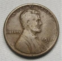 1911-S Lincoln Wheat Cent CH GOOD Coin AE473 - $33.80