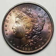 1881 Toned MORGAN SILVER $1 DOLLAR Coin Lot# 519-20