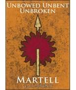 Game of Thrones House of Martell Logo Unbowed Unbent Unbroken Fridge Mag... - $3.99