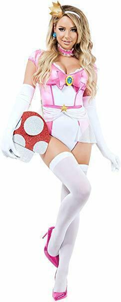 Starline Prinzessin Pilz Damsel Pfirsich Erwachsene Damen Halloween Kostüm S9008