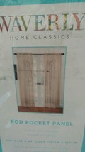 "Waverly Home Classics Taupe Rod Pocket Panel 50"" x 84""New - $9.89"
