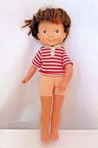 """Vintage Fisher Price Doll Young Boy 1981 Stuffed Body 15"""" Tall - $14.01"""