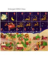 Christmas Seals Sheet Santa Claus Sleigh Reindeer Holiday Village 54 Sea... - $14.99