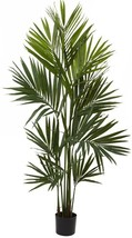 Nearly Natural Artificial Kentia Palm Silk Tree 7 ft. 230 Leaves Plastic Green - $161.33