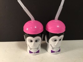 Greenbrier Water Cup W Lid & Straw Halloween Lot of 2 Dracula Head  NEW - $8.59