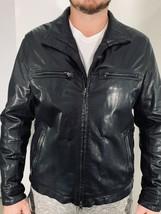 Boss Hugo Boss Mens Coat Black Motor biker Goat Leather Zip Jacket $695 ... - $189.00