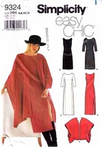UNCUT 2000 Misses' Semi-Fitted DRESS & WRAP Pattern 9324-s Sizes 6-12 - $12.99