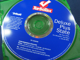 Turbotax tax year 2005  Deluxe Plus state Intuit  360658 cd - $14.84