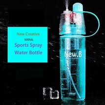 400ML 600ML Sport Spray Water Bottle Portable Creative Bottle With Mist ... - $11.02+