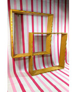 Lovely Mid Century Maple Wood Shadow Box Interlocking Shelves Scallop Ed... - $30.00