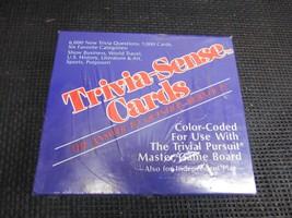 Old Vtg TRIVIAL PURSUIT TRIVIA-SENSE CARDS FACTORY SEALED COMPLETE Maste... - $29.69