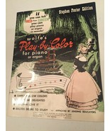 Vintage Wolfe's Play-By-Color for Piano Sheet Music Stephen Foster Edition - $19.79