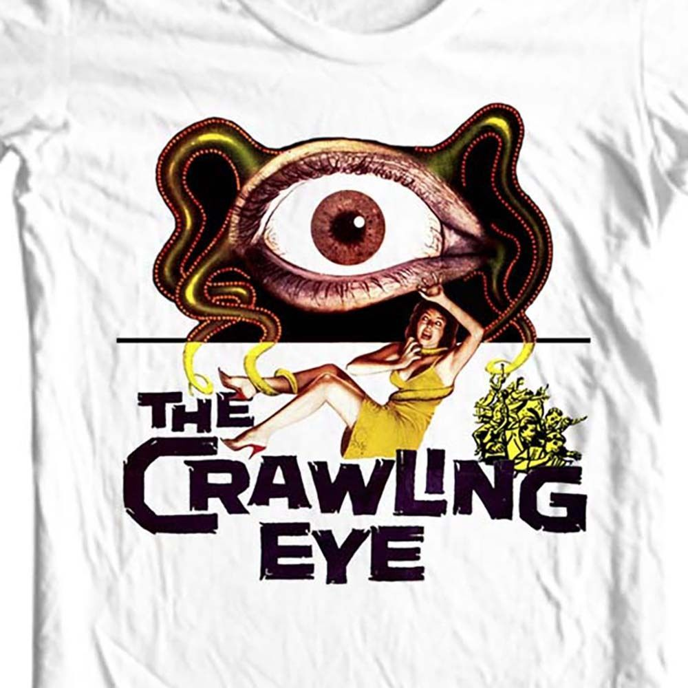 The crawling eye science fiction vintage for sale online graphic white cotton t shirt