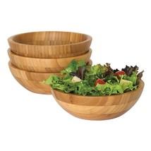 Lipper International Bamboo Small Strong Salad Wooden Serving Bowls, 4 P... - $753,55 MXN