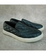 Mossimo Womens   Size 7 Black  Slip On Quilted Loafer Sneakers - $19.99