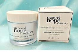 Philosophy Renewed Hope In A Jar Dry Face Moisturizer Cream Dry Skin Lotion 2oz - $26.31