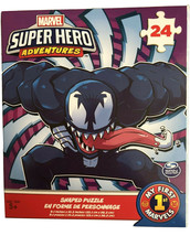 Marvel Venom Shaped Puzzle 24 Piece Kids Learning Educational Easy Ages ... - $6.90