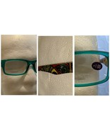 Jade Green Teal Fashion Reading Glasses Tribal Design Temple Arm Unisex ... - $9.89
